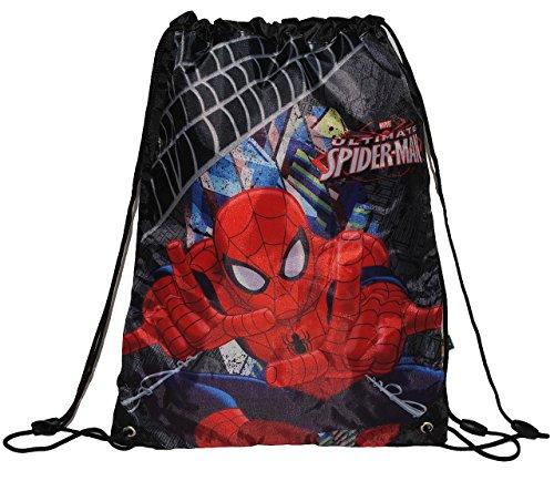 Sportbeutel / Turnbeutel / Schuhbeutel Spiderman - Spider Spinne Spider-Man - Junge wasserabweisend (Action-sport-schuhe Herren)