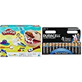Play-Doh - El dentista bromista (Hasbro B5520EU4) con Duracell Ultra Power - Pack DE 12 Pilas alcalinas AA