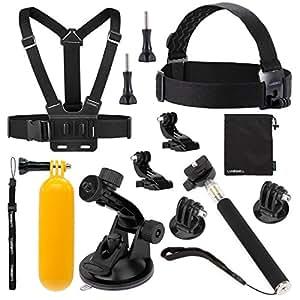 Luxebell Accessori Kit per Gopro Hero 5 4 3+ 3 2 1 Black Silver, Action Camera Accessori per SJCAM SJ4000/SJ5000/SJ6000/DBPOWER/WiMiUS/XiaoMi Yi (8-in-1)