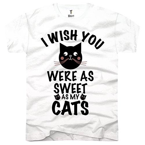 Tee-shirt, t-shirt da uomo Sweet Cats Bianco