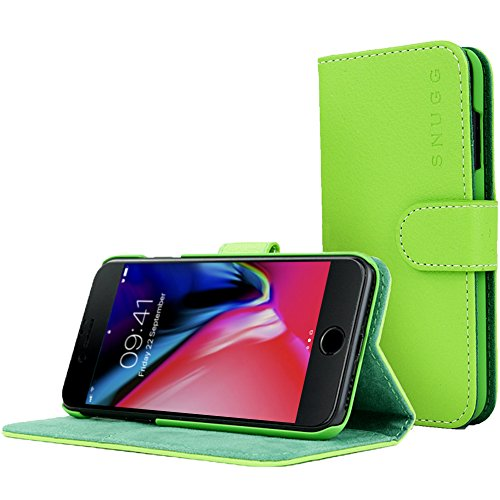 Snugg iPhone 7 & 8 Hülle, Flipcase für iPhone 7 & 8 [Kartenschlitze] Etui für Apple iPhone 7 & 8 aus Leder, Cover, Executive-Design Grün, Legacy-Kollektion