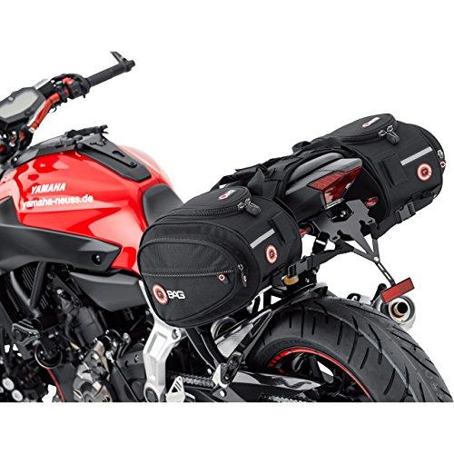 Motorrad Satteltasche QBag Satteltaschen Motorrad Gepäck Satteltaschenpaar Motorradgepäck, 22 Liter Stauraum (2x11 l), Regenhaube, universell für fast jedes Modell, schwarz