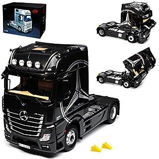 Unbekannt Mercedes-Benz Actros 2 GigaSpace 4x2 FH25 Schwarz limitiert 1 von 400 Stück 1/18 NZG Modell Auto