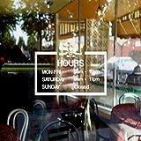 mairgwall Custom Business horas Adhesivo de Pared Personalizado abierto cerrado horas Store Pared Puerta Ventana Adhesivo
