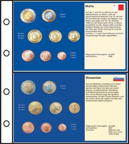 Preisvergleich Produktbild 6 Stück Euro-Vordruck-Tabletts Malta, Slowenien, Slowakei, Zypern, Estland, Lettland
