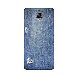 Mobicture Abstract Denim Print Premium Printed High Quality Polycarbonate Hard Back Case Cover for OnePlus 3T With Edge to Edge Printing