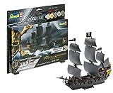 Revell 65499 65499-Modellbausatz Schiff Set 1:150-Piratenschiff Black Pearl im Maßstab 1:150, Level 3, Orginalgetreue Nachbildung mit vielen Details, Segelschiff, Fluch Der Karibik