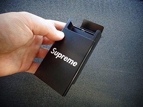 CIGARETTE CASE Women Men Metal Luxury Cool Dispenser Storage Supreme Black Smokers