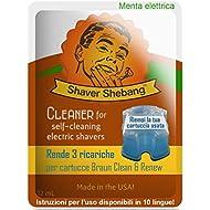 21 recargas para cartuchos Braun - Menta eléctrica - 7 soluciones limpiadoras Shaver Shebang - sustitutos de Clean & Renew