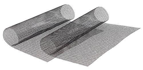 Rosenstein & Söhne Backmatte: 2x Profi-Silikon Dauer-Back- & Grillmatte 42x36cm, antihaft (Netz Back Grillmatten) -