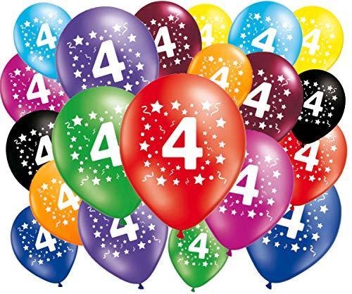FABSUD–Lote de 20Globos cumpleaños 4años