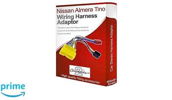 Nissan Almera Ti radio stereo wiring harness adapter lead loom ISO on