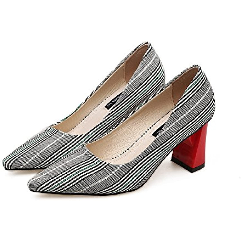 Punta con scarpe singole donne nella luce del High-Heel Scarpe  Casual con Grassetto, nero,38  Scarpe Parent db72cd