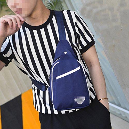 Freizeit Art Und Weise Bewegliche Wilde Outdoor Sports Umhängetasche Brusttaschen Blue