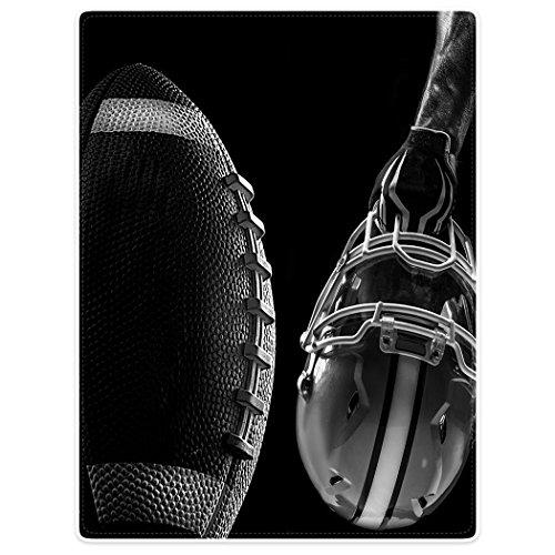 Dick Decke Weich Wärme Gemütlich Flanell-Fleece Sofadecke Deckeldecke American Football Macht Maske ÜBung 150 x 200 cm