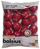 20 Bolsius 5 Hour Quality Wine Red (Dark) Floating Candles, by White Candle Company