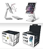 Abovetek-elegant-aluminum-iPad-Pro-Supporto-girevole-per-iPad-AirMini-POS-Kiosk-stand-Due-supporti-di-montaggio-152-cm-33-cm-InterActive-iOSAndroid-Tablet-stand-per-vendita-al-dettaglio-negozio-vetrin