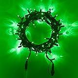 80er LED Lichterkette grün koppelbar Innen Außen grünes Kabel 8m Typ CC