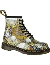 Dr.Martens Womens 1460 8-Eyelet George and Dragon Backhand Leather Boots