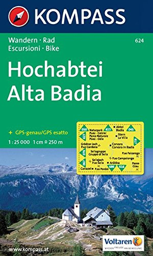 Carta escursionistica n. 624. Alta Badia 1:25.000. Adatto a GPS. Digital map. DVD-ROM