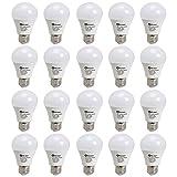 20 Stü DM E27 108*60mm LED Birne Lampe 7W 600lm in kaltweiß (6000-6500K) aus weißer Abdeckung, ersetzt 70W Glühlampe, 180°Abstrahwinkel umweltfreundliches LED Leuchtmittel mit RoHs und CE Zertifikation