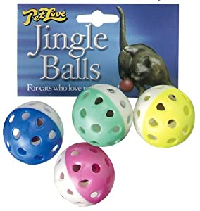 Pet Love Jingle Balls 4 Pack Cat Toy by Pet Love