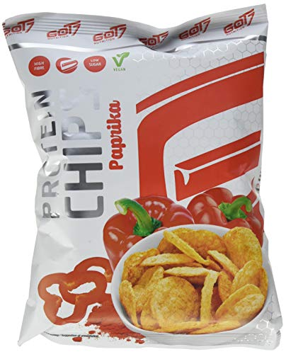 GOT7 High Protein Chips Snack 40% Protein Fitnesssnack - Ideal Zur Diät Fitness Bodybuilding 6x 50g (Paprika)