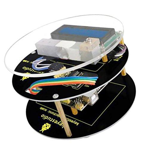 Especificación:HX711 es un chip de 24 bits convertidor A \ D, diseñado para la alta precisión del sensor de pesaje, cuenta con alta integración, una respuesta rápida y fuerte anti-interferencia, circuito externo integrado necesario por otros chips...