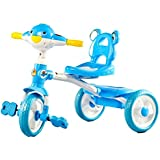 GoodLuck Baybee - Children Plug And Play Poppy Tricycle With Music Kid's For 2-4 Years Baby Ride On Outdoor | Suitable For Boys & Girls - (Blue)