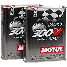 MOTUL 104239 aceite 300V HIGH-RPM 0W20, 4 Litros (2x2 lts) 100% sintético Alta competición