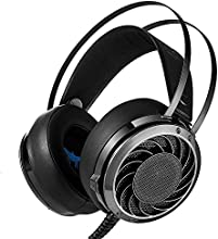 Combaterwing M160, Professional 3.5mm PC Stereo Gaming Headset, Bass Headphones, Comfortable Headband, Over-ear fit with Noise Isolation, LED Light for Laptops Computers PS4 or Mobile Phones (Black)