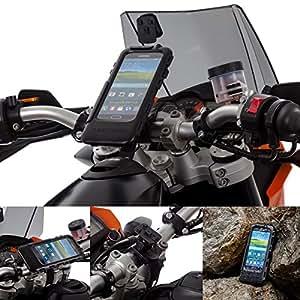 Ultimateaddons Moto Sangle Verrou Support Guidon avec étanche étui pour Samsung Galaxy S5
