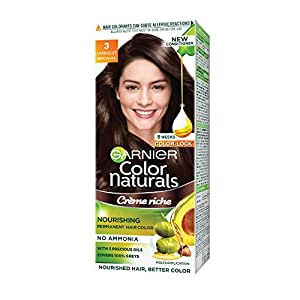 Garnier Color Naturals Shade 3 Darkest Brown, 70ml + 60g