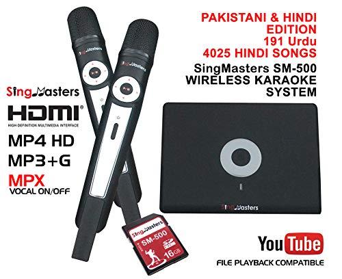 Digital-multiplex-recorder (SingMasters Magic Sing Pakistani Karaoke-Player, 4025 Hindi, 191 Urdu Pakistani Songs, Dual Wireless Mikrofone, Youtube kompatibel, HDMI, Songaufnahme, Pakistani Urdu Karaoke-Maschine)