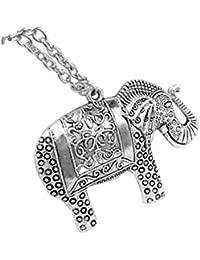 CautPY- Collar de plata con colgante de elefantes