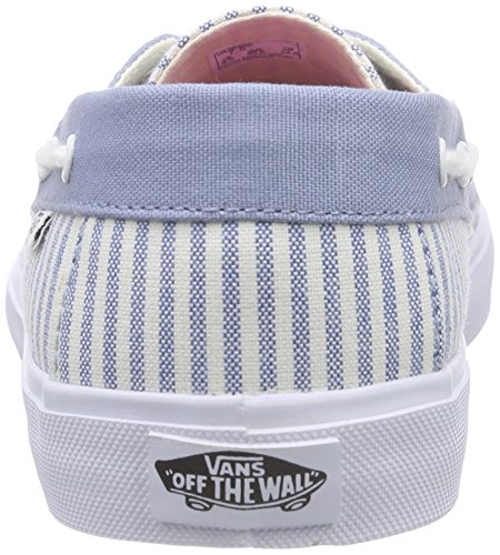 Vans Chauffette Sf, Baskets Basses Femme Bleu (Stripe/Faded Denim)