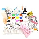 Warm Mädchen Pro 12Farbe Pure UV Gel Nail Pinsel Decklack Cleanser Plus Nail Kleber Strass Nail Art Werkzeug Kits Maniküre-Set