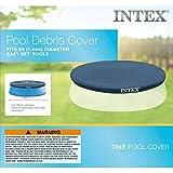 Intex 8-Ft Easy Set Pool Cover, blue