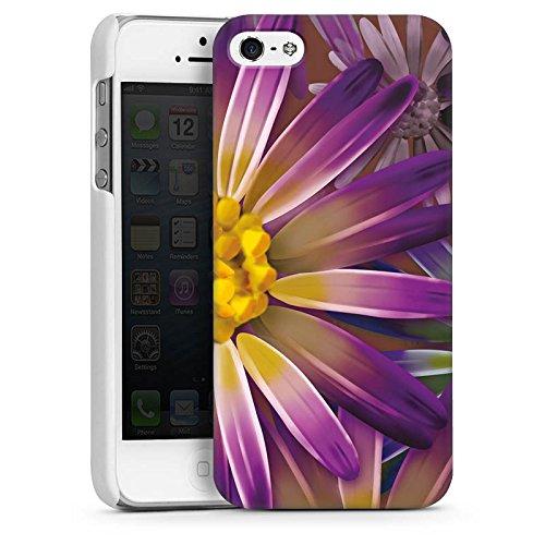 Apple iPhone 4 Housse Étui Silicone Coque Protection Lilas Fleur Fleur CasDur blanc