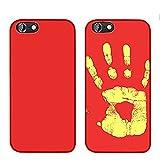 MIMINUO Copertura del telefono Cassa morbida di TPU del sensore termico di cambiamento di colore magico di caso di iPhone 7 red IPcase