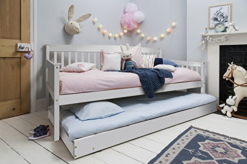 Noa and Nani - Isabella Single Day Bed with Pullout Trundle - (White)