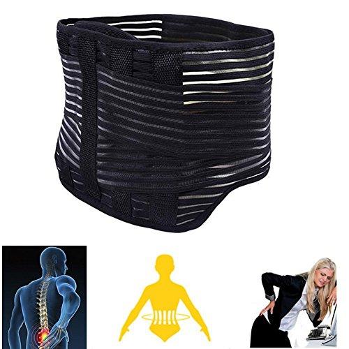 Vkaiy Lendenwirbelstütze, Rückenstütze Verstellbarer Rückenstützgürtel für Beugt Verletzungen vor, Rückenbandage Gurt Beim Alltag anwenden und Sport(82cm -95cm)