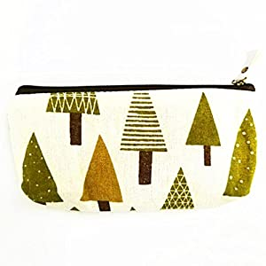 LnLyin – Estuche para lápices, diseño de Flores étnicas, diseño de Bosque y Animales, con Soporte para bolígrafos, Estuche para cosméticos, Lona, Whale, Talla única