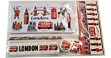 #1 Bestselling All In One School Kit - London Souvenir - Pen / Pencil Case, Sharpener, Eraser / Rubber, Ruler (inches/cm) - Trousse / Federmappchen / Caja de Lapices / Astuccio - White - EVERYTHING LONDON - Black Cab / Red Phone Box / London Bus / Royal Guard / Beefeater / Tower of London / Big Ben / Westminster Abbey / Tower Bridge / St Paul's Cathedral - Top Quality Product