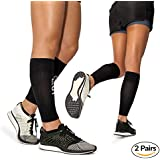 Manches di compression de mollet par Modetro Sports - périostite tibiale, Circulation & Manches à compression de crampe aux jambes - course, Jogging, vélo, Fitness & Exercise pour une performance améliorée - hommes & femmes