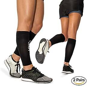 Fasce compressione polpaccio per uomo e donna by Modetro Sports. Supporto a compressione per periostite, sindrome tibiale, crampi alla gamba, miglioramento della circolazione. Corsa, jogging, bicicletta, fitness ed esercizi ad alta prestazione