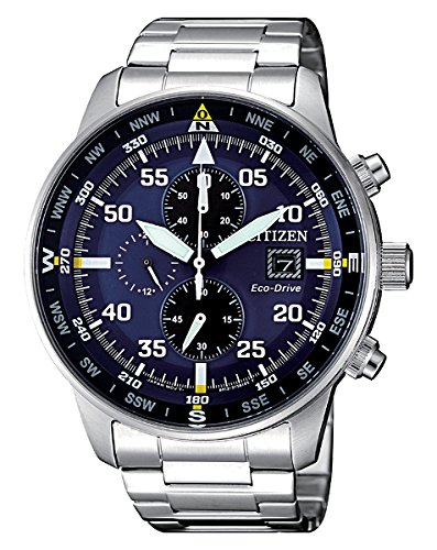 Citizen orologio uomo cronografo of collection aviator chrono ca0690-88l