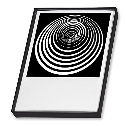 Postkartenset - Op-Art. 25 Postkarten in schöner Geschenkbox: Für Freunde der optischen Kunst und prägnanter Grafik. (Grafik Kunst)