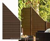 bambus-discount.com Sichtschutz Polyrattan Geflecht Abschluss mocca, 178 x 88cm - Sichtschutz, Sichtschutz Elemente, Sichtschutzwand, Windschutz