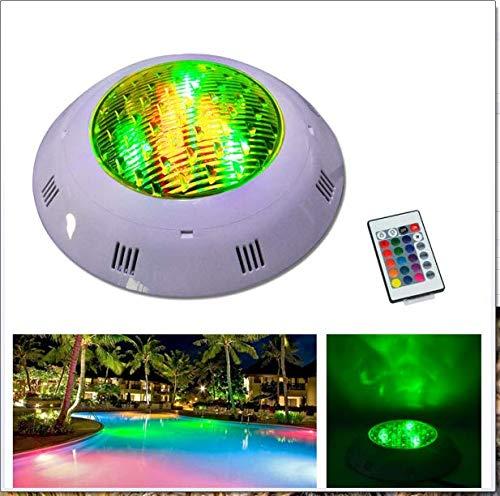 D Aquarium Unterwasser Licht 9W 12W RGB Runde IP68 Schwimmbad Brunnen Strahler Lampe mit Fernbedienung AC 12-24V,12W ()